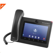 "Grandstream GXV3370 [IP video-telefon s Androidem 7.0, PoE+, WiFi, 7"" dotykové LCD, mini HDMI, SD"