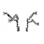 "Manhattan Dual Mount, Two gas-spring jointed arms, for two 17"" to 32"" monitors"