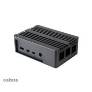 AKASA  Pi-4, Extended Aluminium case with Thermal Modules for Raspberry Pi 4 Model B (SD Slot