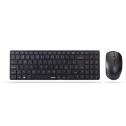 RAPOO klávesnice a myš 9300M Wireless Multi-Mode Slim Mouse and Ultra-Slim Keyboard Black