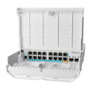 MikroTik Cloud Router Switch CRS318-1Fi-15Fr-2S-OUT, 800MHz CPU, 256MB, 16x10/100 (PoE-in,1x out)