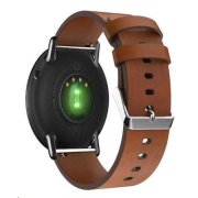Genuine Leather Strap pro Xiaomi Amazfit Pace / Amazfit 2 Stratos, Brown